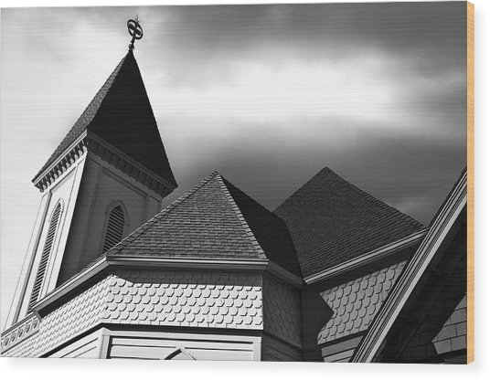 Victorian Church Wood Print by Larry Butterworth