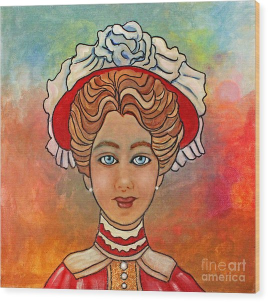 Victorian Lady-a Wood Print