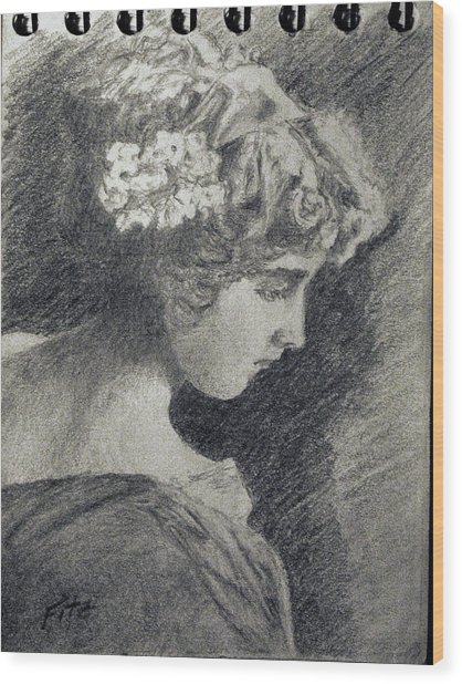 Victorian Teen Wood Print