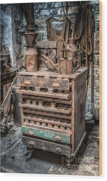 Victorian Workshop Wood Print