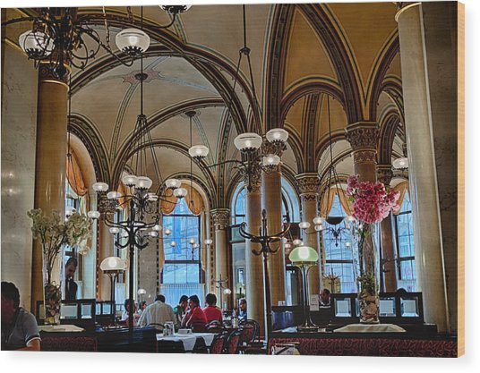 Vienna Central Cafe Wood Print by Viacheslav Savitskiy
