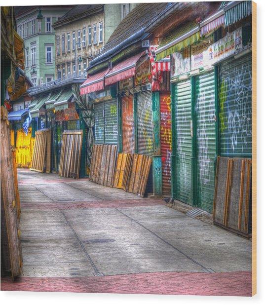 Vienna Naschmarkt Wood Print