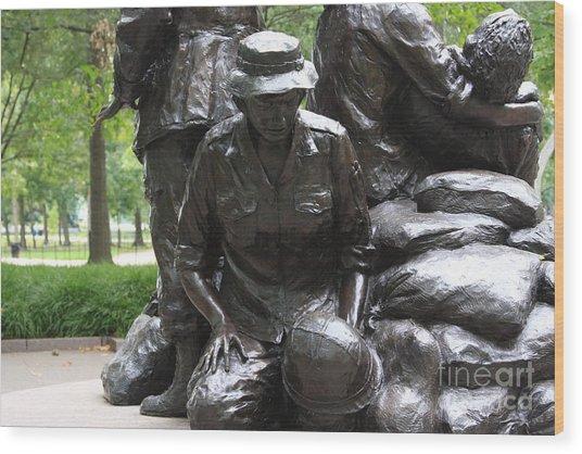 Vietnam Nurses Memorial  Faith Wood Print