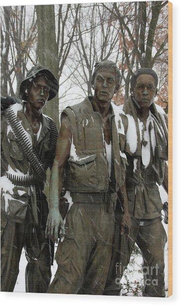 Vietnam Veterans Memorial Wood Print