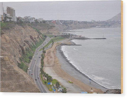 View At The Beach And The Circuito De Playas Wood Print by Markus Daniel
