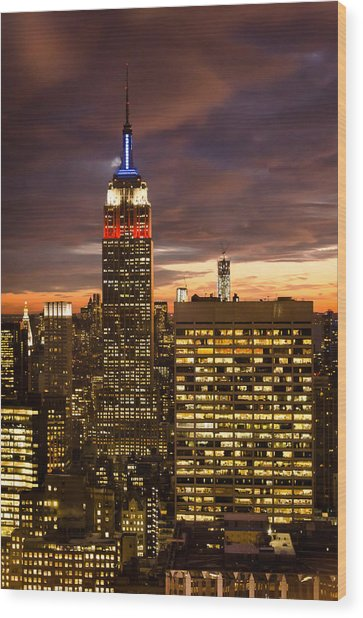 View From 30 Rock 2 Wood Print