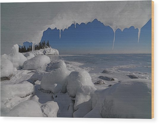 View From An Ice Cave Wood Print