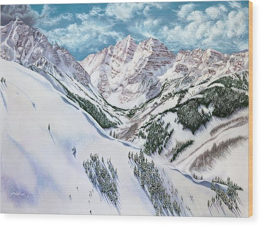 View From Aspen Highlands Wood Print