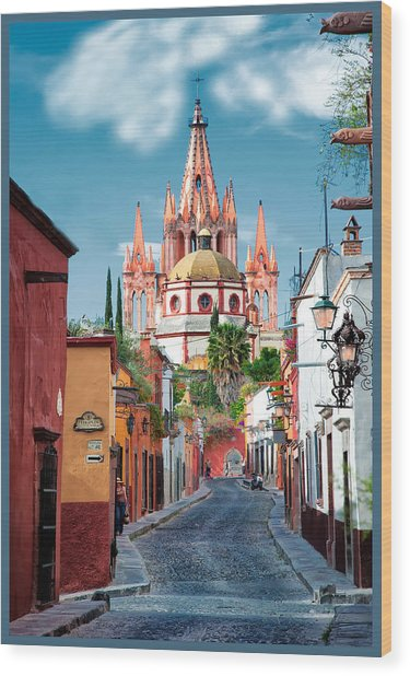 View From Calle Adama Wood Print