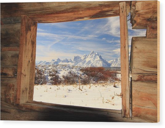 View From Cunningham Cabin Wood Print