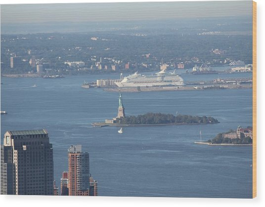 View From Empire State Building Wood Print