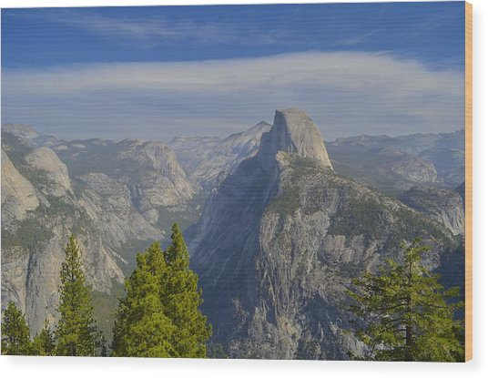 View From Glacier Point Yosemite Wood Print