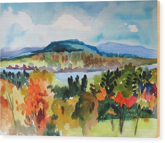 View From Kripalu In Fall Wood Print