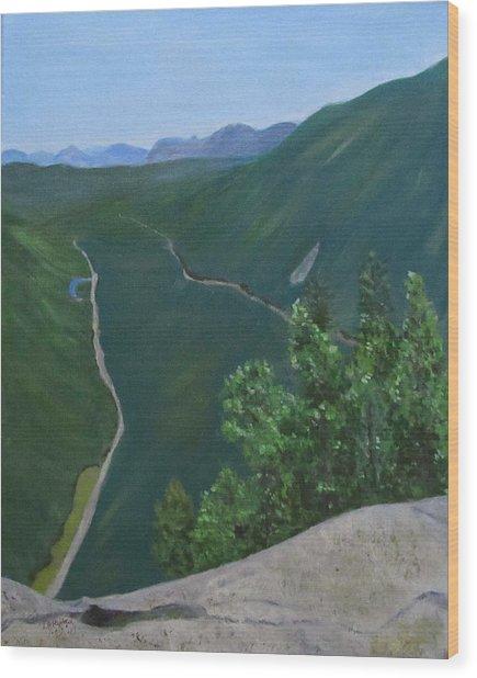 View From Mount Willard Wood Print