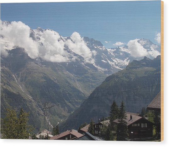 View From Murren Wood Print