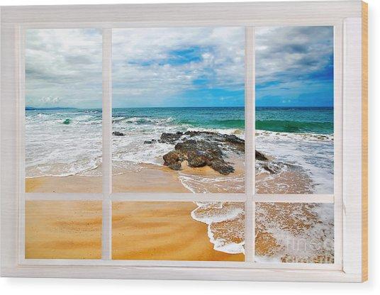 View From My Beach House Window Wood Print