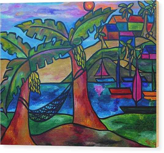 View From My Villa Wood Print