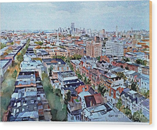 View From Penthouse Prospect Park West Wood Print