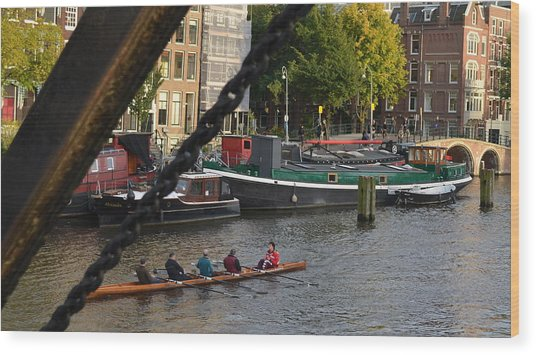 'skinny Bridge' Amsterdam Wood Print
