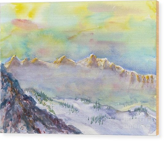 View From Snowbird Wood Print
