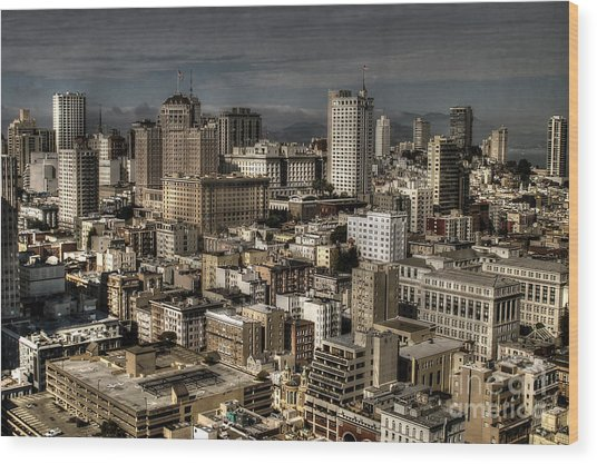 View From The 31st. Floor Wood Print by Sylvia Blaauw