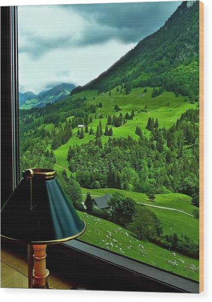 View From The Goldenpass Wood Print