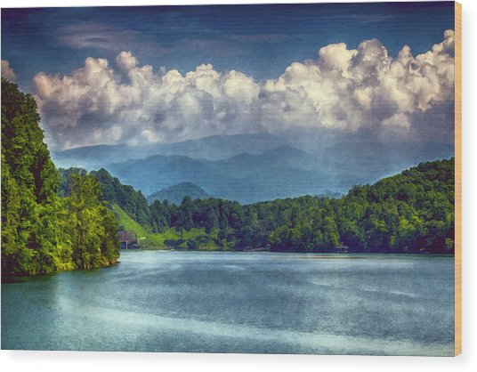 View From The Great Smoky Mountains Railroad Wood Print