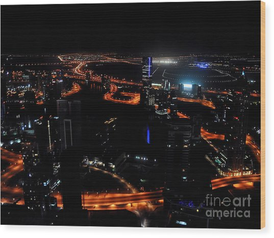 View From The Jw Marriott Marquis Dubai Hotel Wood Print by Graham Taylor