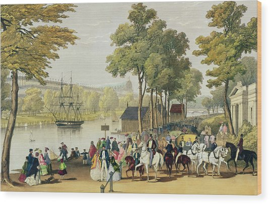View From The North Bank Of The Serpentine Wood Print