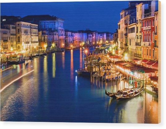 View From The Rialto Bridge Wood Print