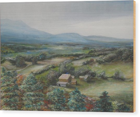 View From The Taconic Wood Print