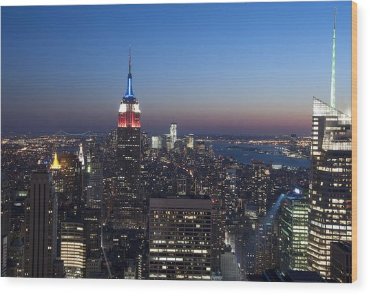 View From The Top Of The Rock Wood Print by David Yack