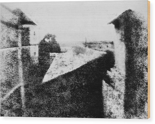View From The Window At Le Gras Wood Print