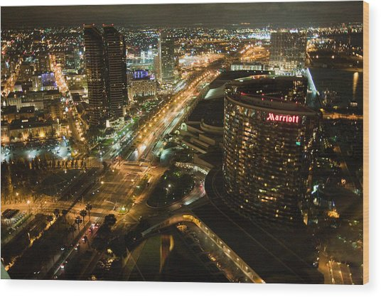 View From Top Of The Hyatt Wood Print