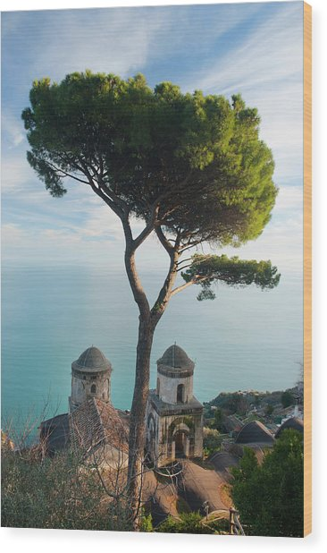 View From Villa Rufolo Wood Print by Christopher Groenhout