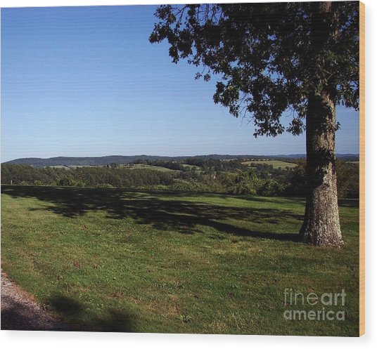 View From Wethersfield Wood Print