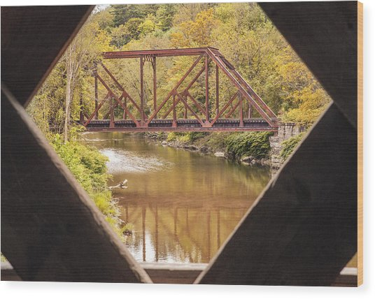 View From Worrall Covered Bridge Wood Print