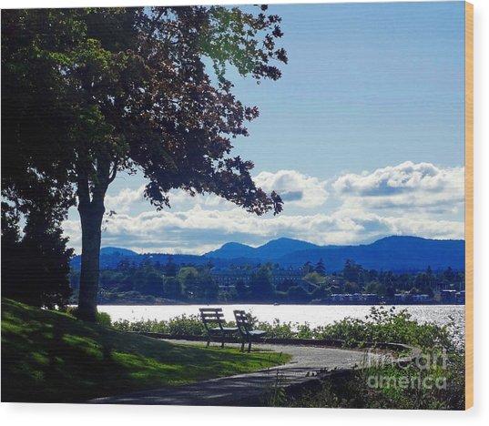 View In Victoria B C Canada Wood Print