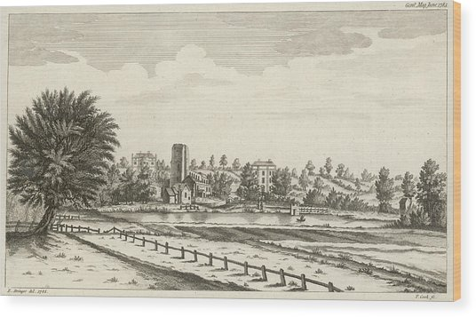 View Near Lichfield  (staffordshire) Wood Print by Mary Evans Picture Library