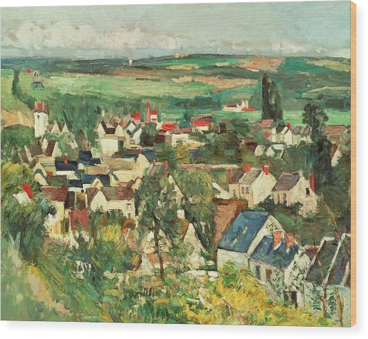 View Of Auvers From Above Wood Print