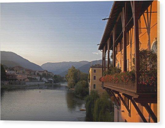 View Of Brenta River Wood Print