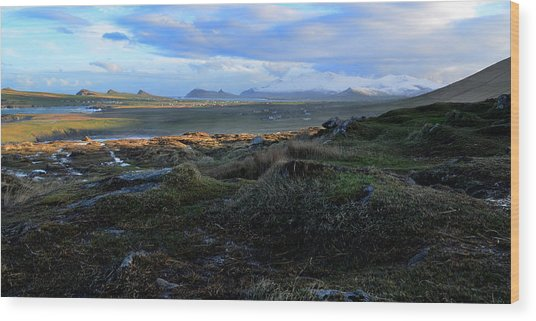 View Of Clogher Beach And The Three Sisters Wood Print