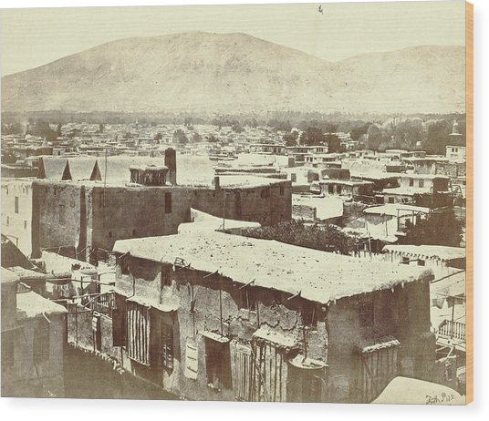 View Of Damascus, With The Lebanon Mountains Wood Print