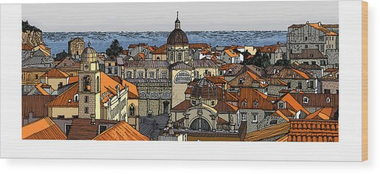 View Of Dubrovnik Wood Print