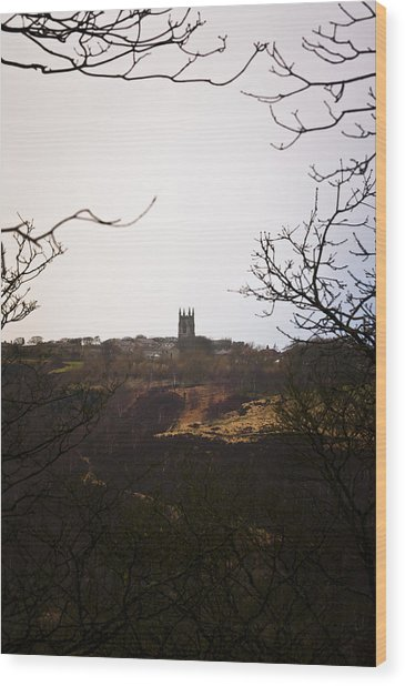 View Of Heptonstall Church Wood Print