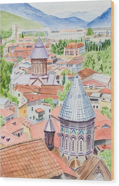 View Of Tbilisi-republic Of Georgia Wood Print