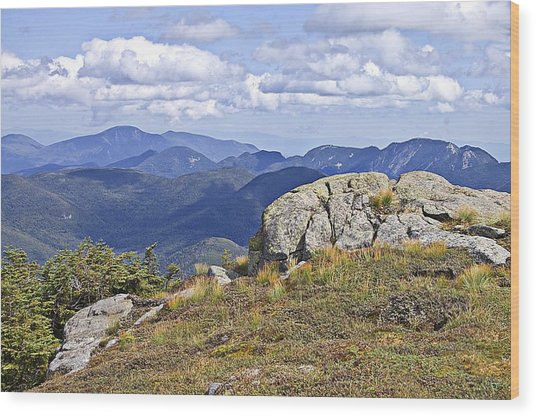 View Of The Great Range From Algonquin Wood Print
