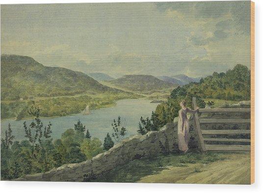 View Of The Hudson Circa 1817 Wood Print
