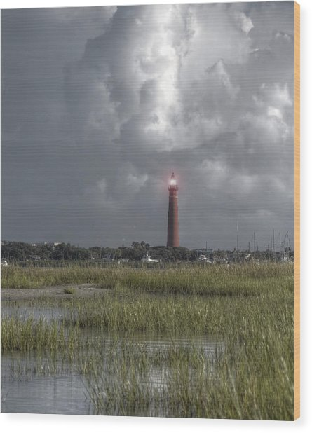 View Of The Lighthouse  Wood Print