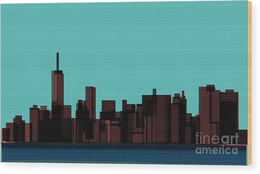 View Of The Manhattan In The Pop Art Wood Print by Finlandi